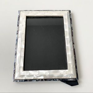 Rare Vintage Brass Mother of Pearl Photo Frame